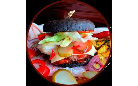 """Бургер """"Black Beef BBQ"""" (360/120/50 г)"""