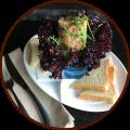 Тартар из лосося с тостами