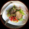 Салат с теплой телятиной