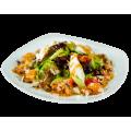 Тропический салат с мидиями и авокадо