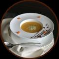 Крем-суп из тыквы с дуэтом сыров
